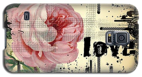 Love Grunge Rose Galaxy S5 Case by Robert G Kernodle