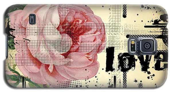 Love Grunge Rose Galaxy S5 Case