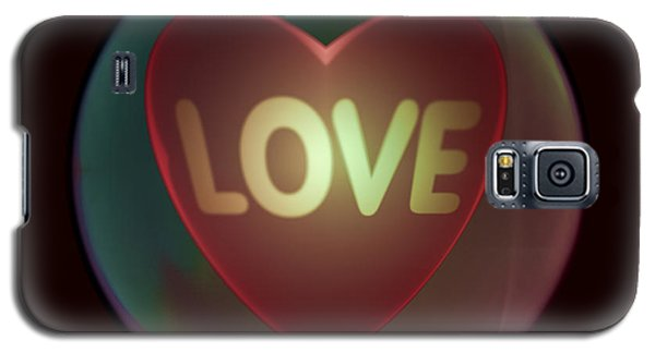 Love Heart Inside A Bakelite Round Package Galaxy S5 Case by Ernst Dittmar