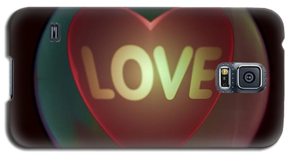 Love Heart Inside A Bakelite Round Package Galaxy S5 Case