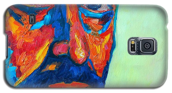 Galaxy S5 Case featuring the painting Love Him So Much by Ana Maria Edulescu