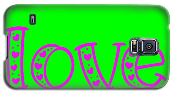 Love In Magenta And Green Galaxy S5 Case