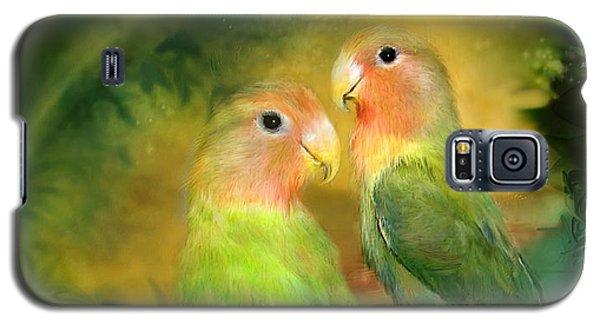 Love In The Golden Mist Galaxy S5 Case by Carol Cavalaris