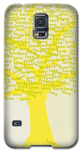 Galaxy S5 Case featuring the painting Love Inspiration Tree by Go Van Kampen