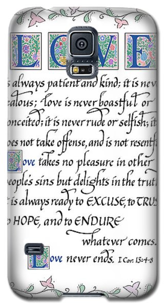 Love Is Always Patient-with Border Galaxy S5 Case