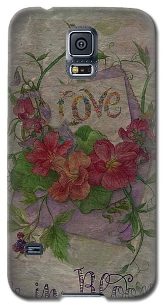 Love Is In Bloom Botanical Galaxy S5 Case