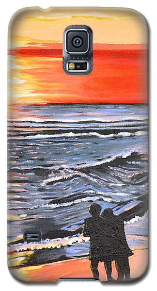 Galaxy S5 Case featuring the painting Love Is In The Air by Donna Blossom