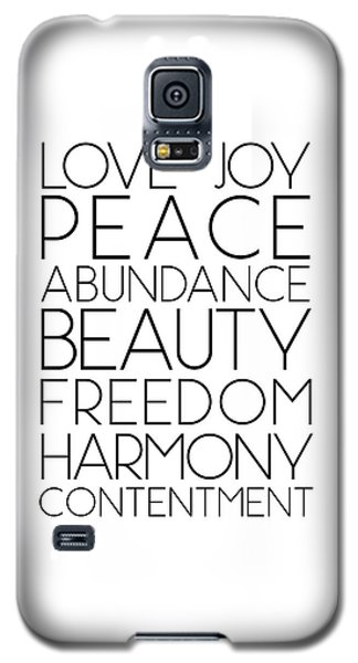 Love Joy Peace Beauty Virtues Galaxy S5 Case