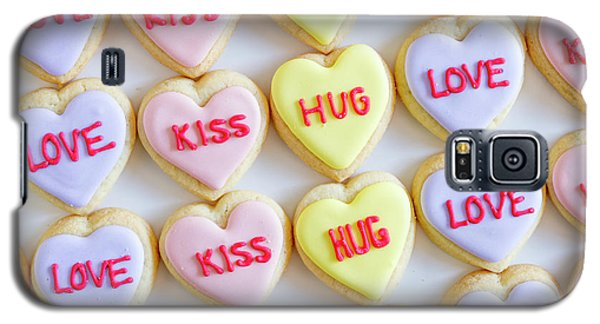 Galaxy S5 Case featuring the photograph Love Kiss Hug Heart Cookies by Teri Virbickis