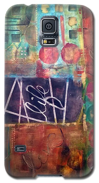 Galaxy S5 Case featuring the mixed media Love Life by Shelley Bain