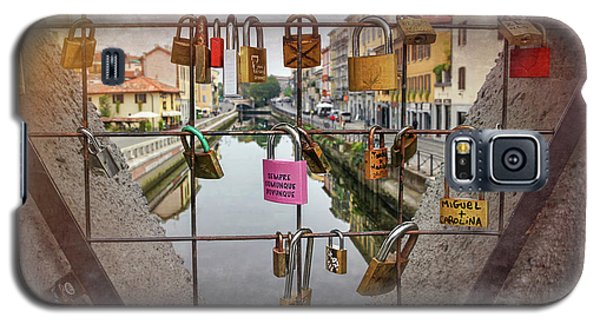 Love Lock Triangle At Naviglo Grande Milan Italy  Galaxy S5 Case