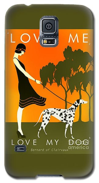 Love Me Love My Dog - 1920s Art Deco Poster Galaxy S5 Case