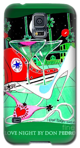 Galaxy S5 Case featuring the painting Love Night by Don Pedro De Gracia