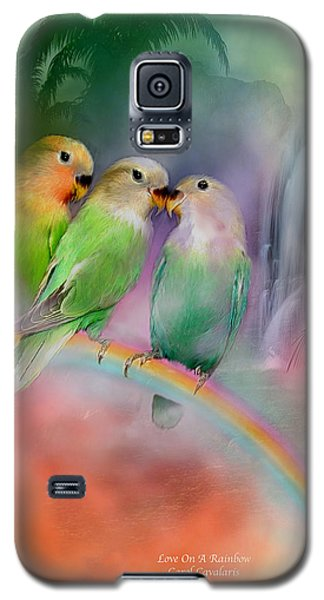 Love On A Rainbow Galaxy S5 Case by Carol Cavalaris
