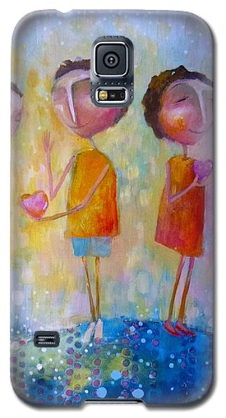 Galaxy S5 Case featuring the painting Love One Another by Eleatta Diver