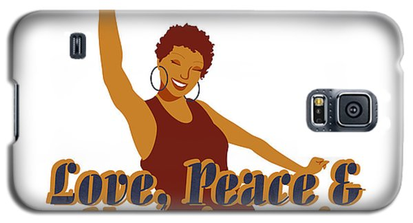 Love Peace And Nappiness Galaxy S5 Case
