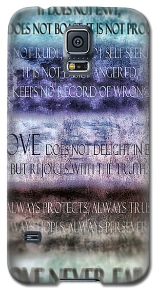 Galaxy S5 Case featuring the digital art Love Rejoices With The Truth by Angelina Vick