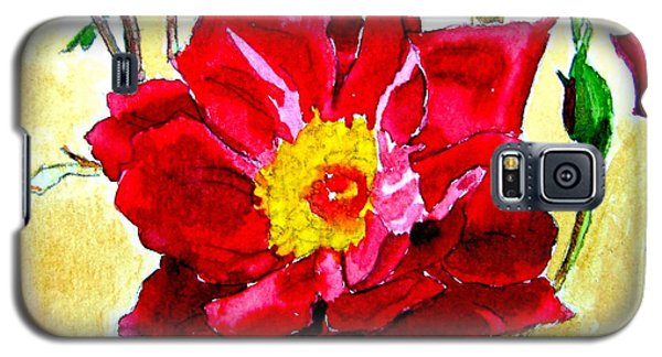Galaxy S5 Case featuring the painting Love Rose by Ana Maria Edulescu