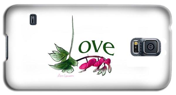 Galaxy S5 Case featuring the digital art Love Shirt by Ann Lauwers