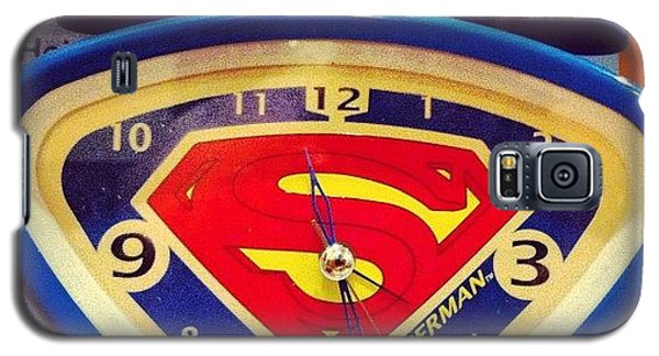 Superhero Galaxy S5 Case - Superman Clock by Joan McCool