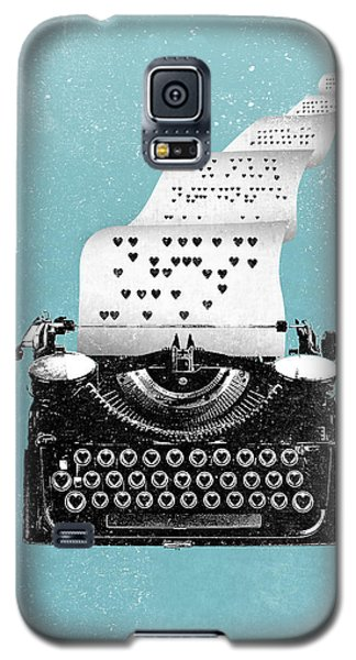 Love Typewriter Poster Galaxy S5 Case