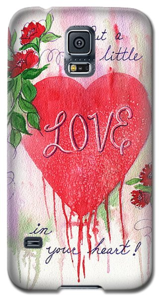 Galaxy S5 Case featuring the painting Love Valentine by Marilyn Smith
