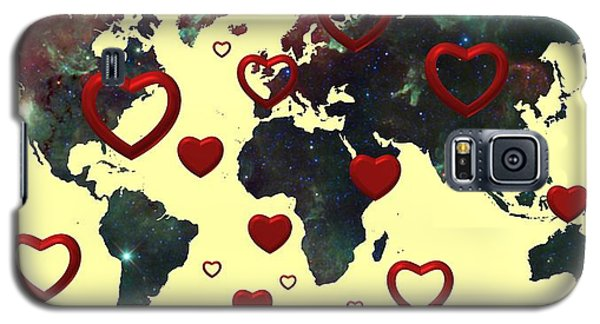 Love World Map 2 Galaxy S5 Case