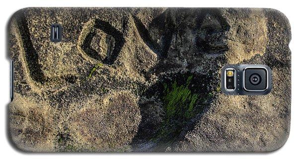 Love Written In Stone Galaxy S5 Case