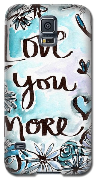 Daisy Galaxy S5 Case - Love You More- Watercolor Art By Linda Woods by Linda Woods