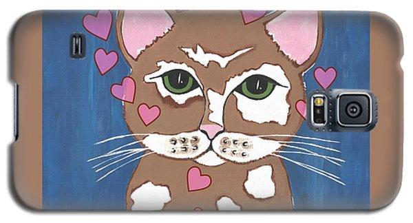 Loveable Cat Galaxy S5 Case by Kathleen Sartoris