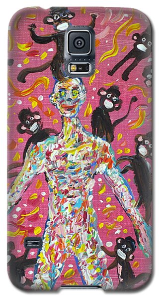 Galaxy S5 Case featuring the painting Loved By The Monkeys by Fabrizio Cassetta