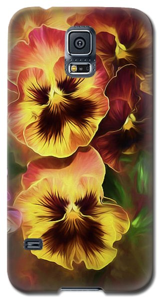 Lovely Spring Pansies Galaxy S5 Case by Diane Schuster