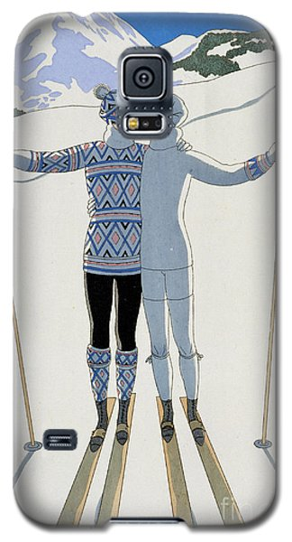 Mountain Galaxy S5 Case - Lovers In The Snow by Georges Barbier