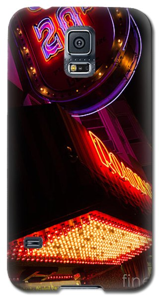 Low Angle Neon Signs At Night In North Beach San Francisco Galaxy S5 Case by Jason Rosette