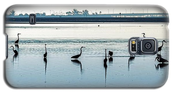 Galaxy S5 Case featuring the photograph Low Tide Gathering by Steven Sparks