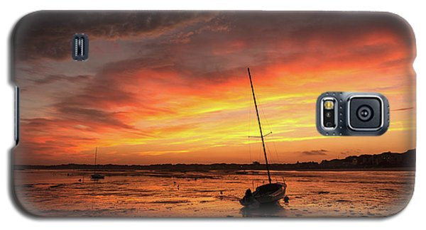 Low Tide Sunset Sailboats Galaxy S5 Case