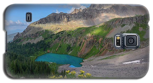 Galaxy S5 Case featuring the photograph Lower Blue Lake And Mt. Sneffels by Aaron Spong