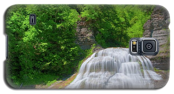 Galaxy S5 Case featuring the photograph Lower Falls 0485 by Guy Whiteley
