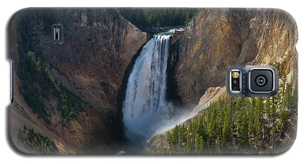 Galaxy S5 Case featuring the photograph Lower Falls Of Yellowstone River by Roger Mullenhour