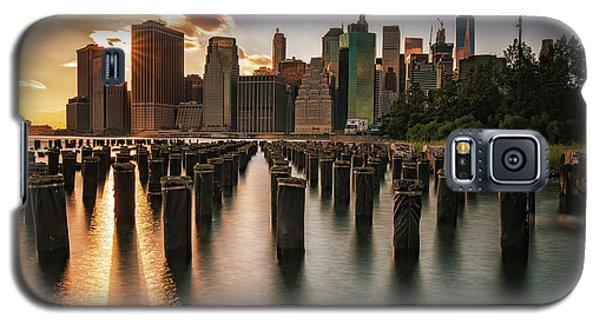 Lower Manhattan Sunset Twinkle Galaxy S5 Case
