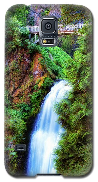 Lower Multnomah Waterfall In The Columbia River Gorge Galaxy S5 Case