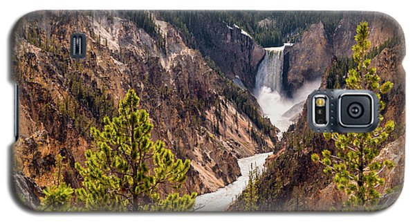 Lower Yellowstone Canyon Falls 5 - Yellowstone National Park Wyoming Galaxy S5 Case by Brian Harig