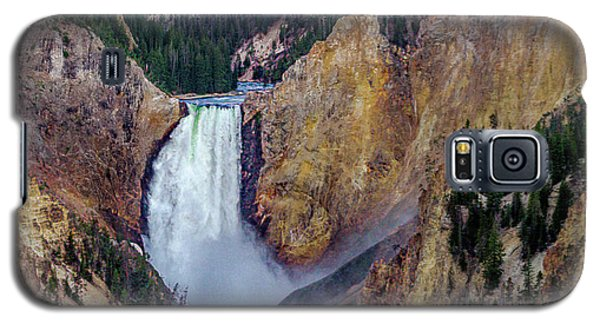 Galaxy S5 Case featuring the photograph Lower Yellowstone Falls II by Bill Gallagher