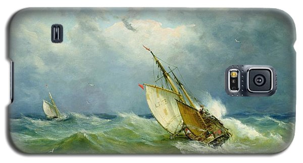 Lowestoft Trawler In Rough Weather Galaxy S5 Case by John Moore