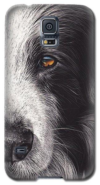 Galaxy S5 Case featuring the mixed media Loyal Companion by Elena Kolotusha
