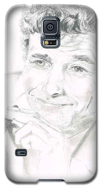 Galaxy S5 Case featuring the drawing Lt. Columbo by Andrew Gillette