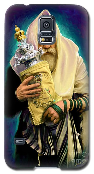 Lubavitcher Rebbe With Torah Galaxy S5 Case by Sam Shacked