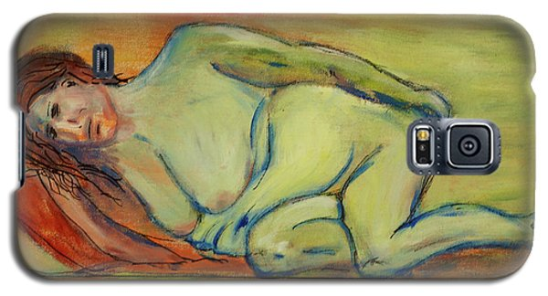 Galaxy S5 Case featuring the painting Lucien Who? by Paul McKey