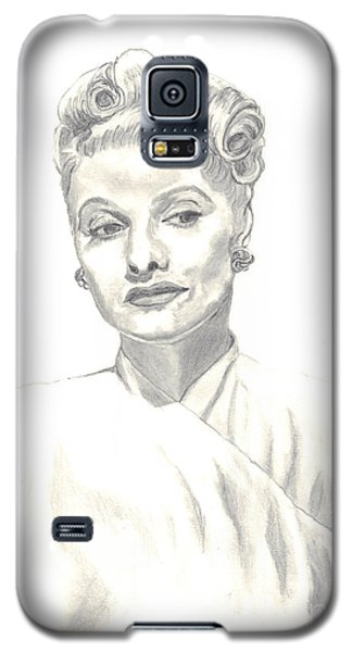 Galaxy S5 Case featuring the drawing Lucille by Carol Wisniewski