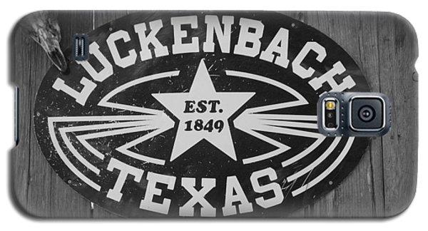 Luckenbach Texas Est. 1849 Sign Galaxy S5 Case by Elizabeth Sullivan